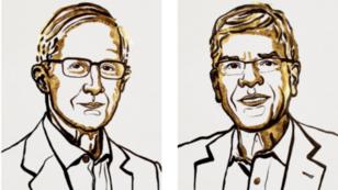 William Nordhaus (gauche) est un spécialiste de l'économie du climat, et Paul Romer travaille sur l'impact de la technologie sur l'économie.