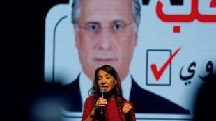 زوجة المرشح للدورة الثانية للانتخابات الرئاسية التونسية نبيل القروي