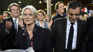 Penelope Fillon et François Fillon lors du meeting organisé par Les Républicains à la Vilette, le 29 décembre.