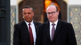 Tunisian Prime Minister Elyes Fakhfakh leaves for a meeting with Tunisian President Kais Saied (not pictured) in Tunis, Tunisia February 15, 2020. REUTERSZ OK