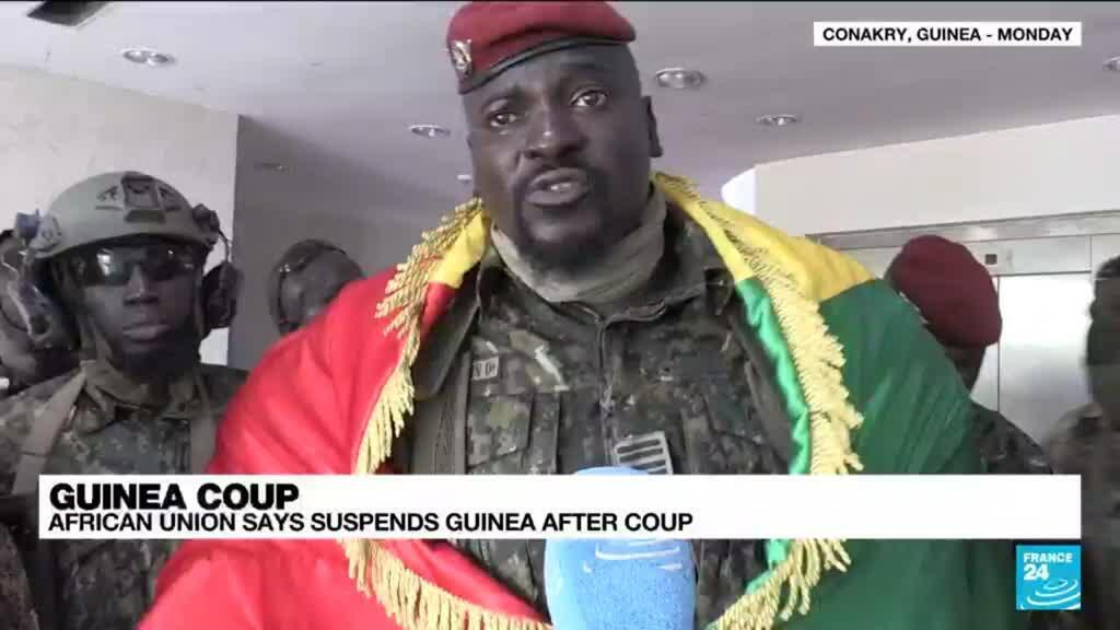 2021-09-10 15:10 African Union says suspends Guinea after coup