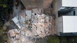 Un immeuble qui s'est écroulé à Mexico