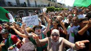 مظاهرة في الجزائر في شهر يونيو/حزيران