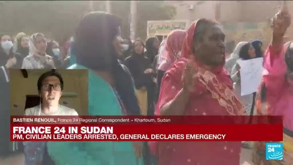2021-10-25 17:02 FRANCE 24 in Sudan: Sudan army kills at least one, wounds 80 anti-coup protesters