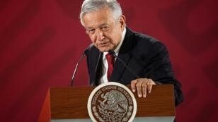 Mexican President Andres Manuel Lopez Obrador, picture here March 11, 2019 during his daily morning press conference at the National Palace in Mexico City on March 11, 2019