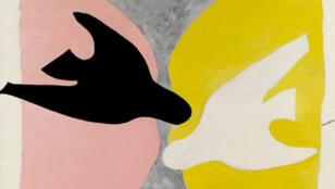 Georges Braque, L'Oiseau noir et l'oiseau blanc, 1960.