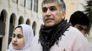 المعارض البحريني نبيل رجب في المنامة، 11 شباط/فبراير 2015
