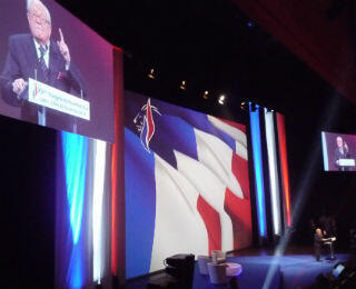 National Front founder Jean-Marie Le Pen urged party members not to forget their history.