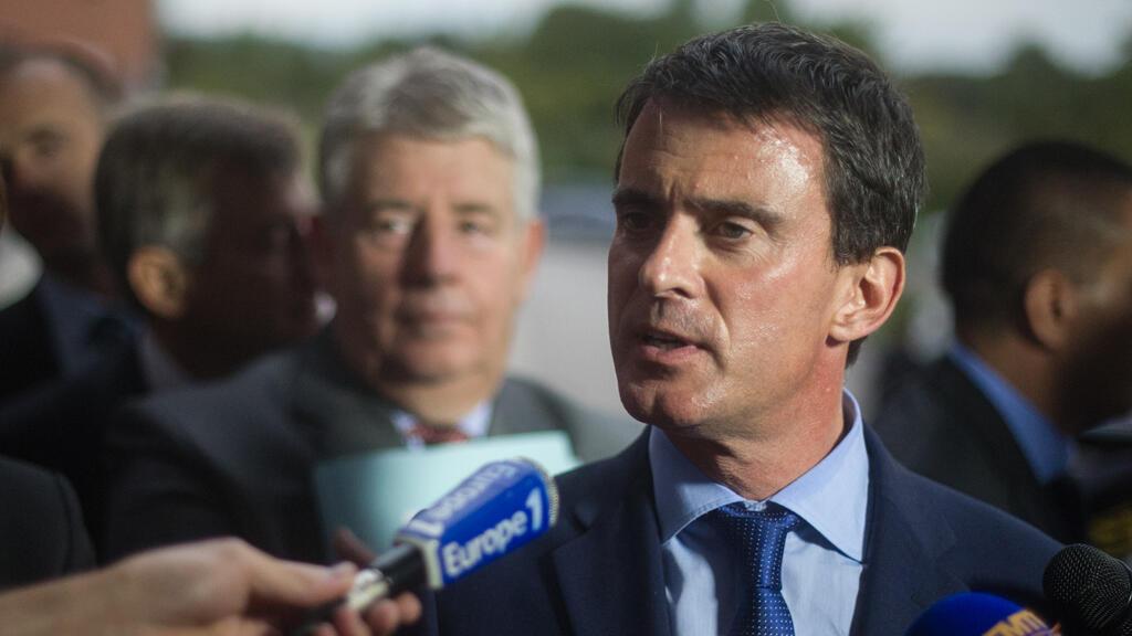 Manuel Valls à Besançon, le 29 septembre 2014.