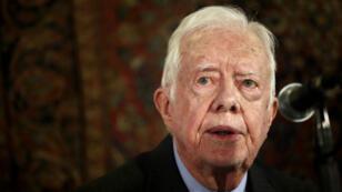Jimmy Carter, lors d'une conférence à Jérusalem, le 2 mai 2015.