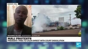 2020-07-12 16:08 Malian opposition figure Dicko calls for calm amid unrest