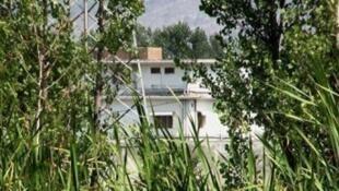 La maison d'Oussama Ben Laden à Abbottabad avant sa démolition.
