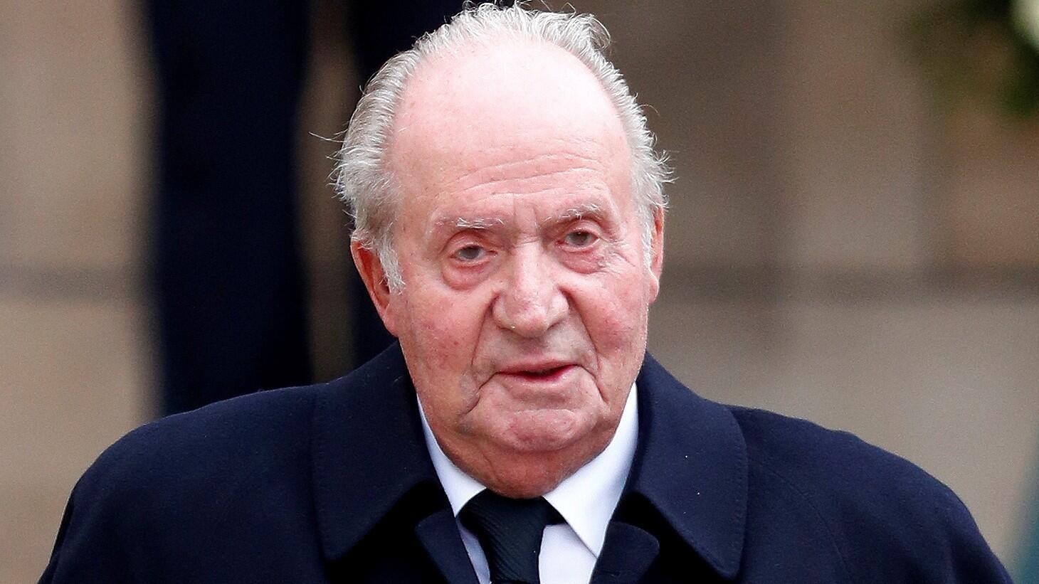 L'ancien roi espagnol Juan Carlos, devant la cathédrale Notre-Dame-du-Luxembourg, à Paris, le 4 mai 2019.