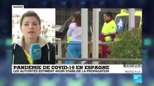 2020-04-08 12:00 Coronavirus : Le bilan s'alourdit en Espagne avec 757 morts en 24 heures, 14 555 au total