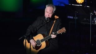 US singer-songwriter John Prine performs onstage during the 2019 Songwriters Hall Of Fame Gala in New York