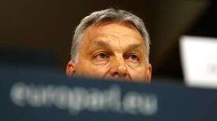 El primer ministro de Hungría, Viktor Orban, asiste a una conferencia de prensa después de una Asamblea Política del Partido Popular Europeo en Bruselas, Bélgica, el 20 de marzo de 2019.