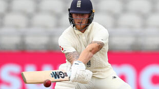 England's Ben Stokes bats on the second day of the second Test against the West Indies