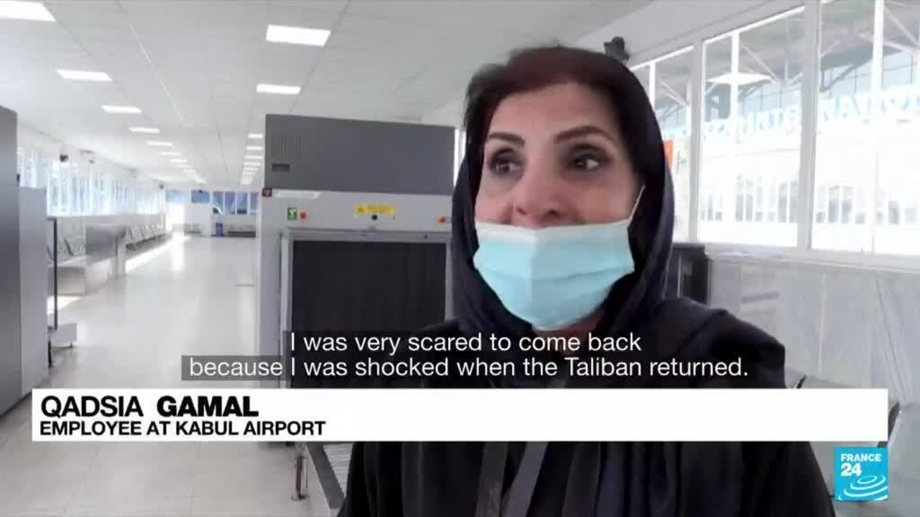 2021-09-13 08:09 Kabul airport: Women head back to work as civilian flights resume
