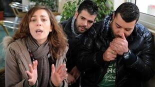 Hind Meddeb et les rappeurs Aymen Feki et Moustapha Fakhfakh