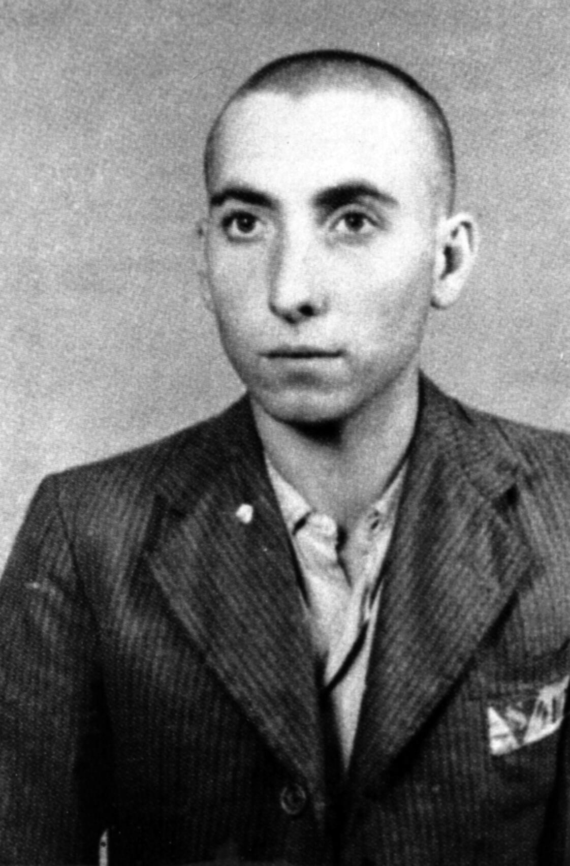 José Alcubierre au camp de Mauthausen.