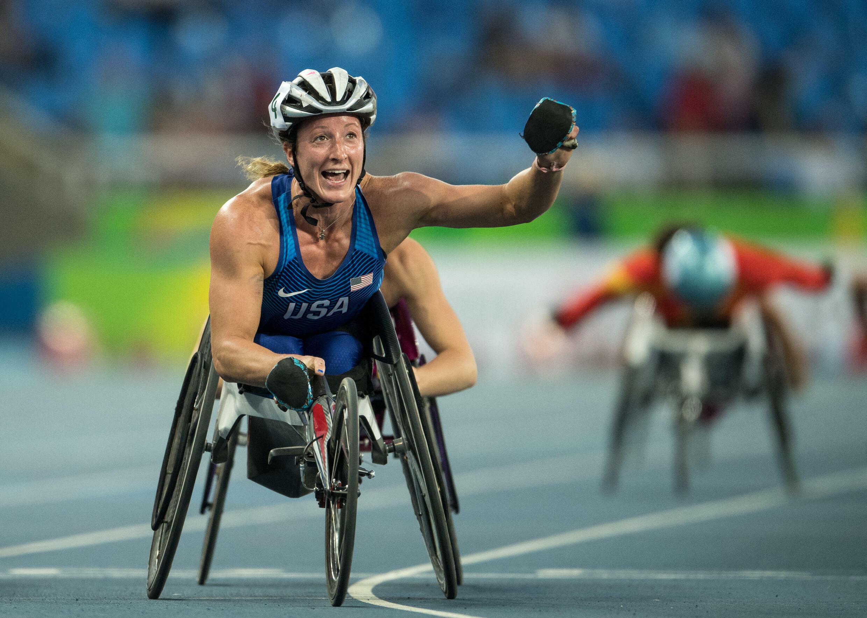 Tatyana McFadden a remporté l'or sur le 5000m à Rio, le 15 septembre 2016.