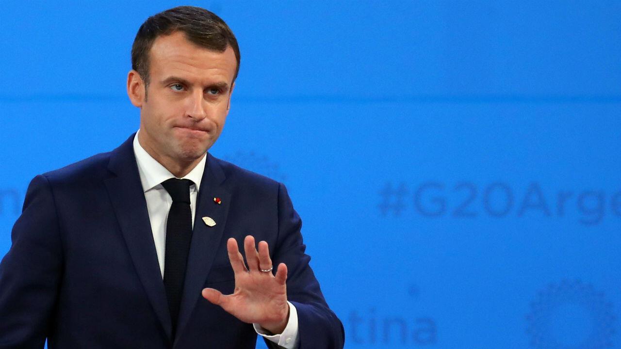 Le président Emmanuel Macron lors du sommet du G20 en Argentine, le 30 novembre 2018.