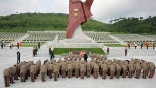 إحياء الذكرى 62 لنهاية الحرب بين الكوريتين يوليو/تموز 2015 بعاصمة كوريا الشمالية