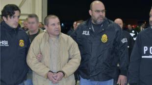El Chapo lors de son extradition aux États-Unis en janvier 2017.