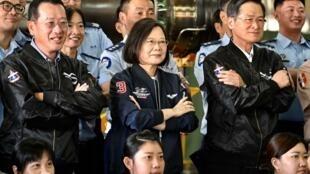 President Tsai Ing-wen said Taiwan would not 'yield an inch'