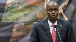 Haiti's President Jovenel Moise delivers a speech during the inauguration of the Taiwan Fair in Port-au-Prince on July 13, 2019.