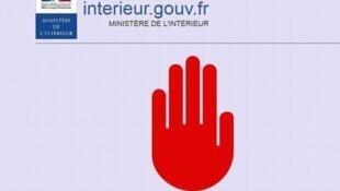 Les internautes voulant se rendre sur un site bloqué sont redirigés vers une page du ministère de l'Intérieur.