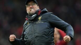 L'entraîneur allemand de Liverpool, Jürgen Klopp, lors de la réception de Tottenham, le 31 mars 2019
