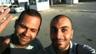 الصحافيان التونسيان سفيان الشورابي ونذير القطاري