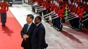 الرئيس الصيني ونظيره السينغالي في داكار في شهر جويلية 2018