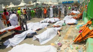 La bousculade à Mina, près de La Mecque, jeudi 24 septembre 2015, a fait 769morts.