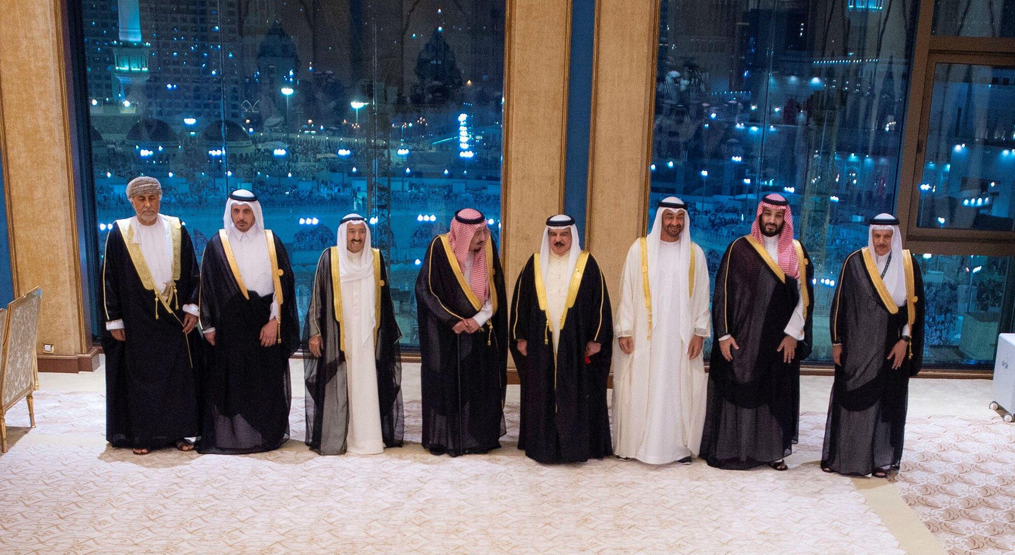 Los líderes del Consejo de Cooperación del Golfo posan durante su cumbre en La Meca, Arabia Saudita. 31 de mayo de 2019.