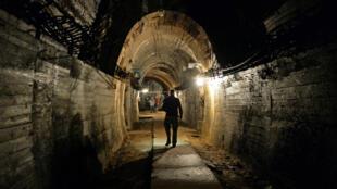 L'un des nombreux tunnels des galeries souterraines à proximité de la ville de Walbrzych.