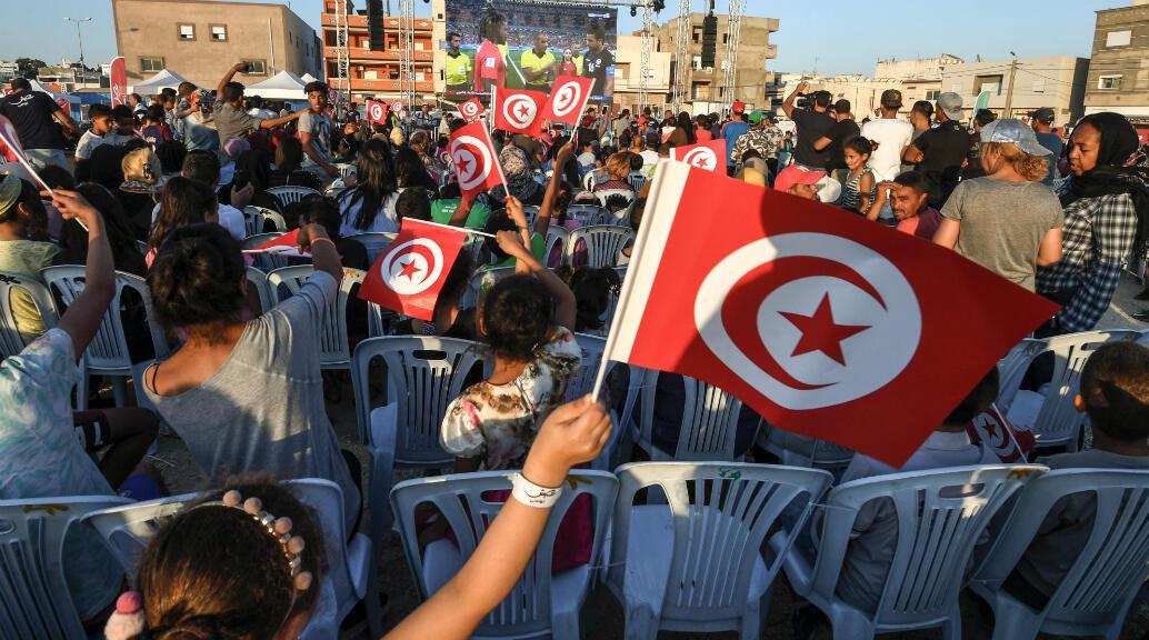 Des supporters tunisiens à Tunis, lors du Mondial-2018 en Russie.