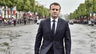 Emmanuel Macron le jour de son investiture, le 14 mai 2017.