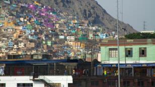 Asentamiento informal en Lima, Perú.