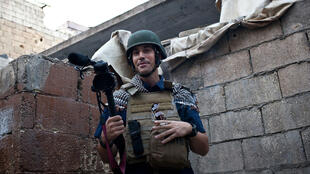 James Foley à Alep, en Syrie, le 5 novembre 2012