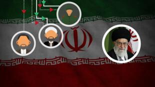 Le guide suprême iranien, l'ayatollah Ali Khamenei, et le président Hassan Rohani, le 3 août 2017, à Téhéran.
