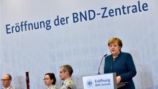 Lors de l'inauguration des nouveaux bureaux des services de renseignements allemands, Angela Merkel a alerté sur la situation en Syrie et en Irak.