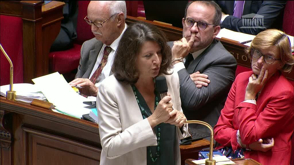 La ministre de la Santé Agnès Buzyn à l'Assemblée nationale lors d'un débat sur le projet de loi bioéthique, le 25 septembre 2019, à Paris.