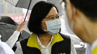 Taiwanese president Tsai Ing-wen visits the Centers for Disease Control (CDC) in Taipei