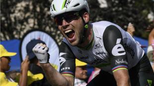 Mark Cavendish a fini vainqueur de la 6e étape du Tour de France 2016, le 7 juillet 2016.