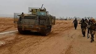 """مقاتلو تنظيم """"الدولة الإسلامية"""" خلال معارك الأنبار الأخيرة"""
