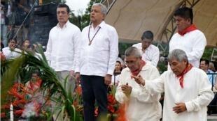 Ritual indígena en Palenque, Chiapas, el 12 de diciembre de 2018.