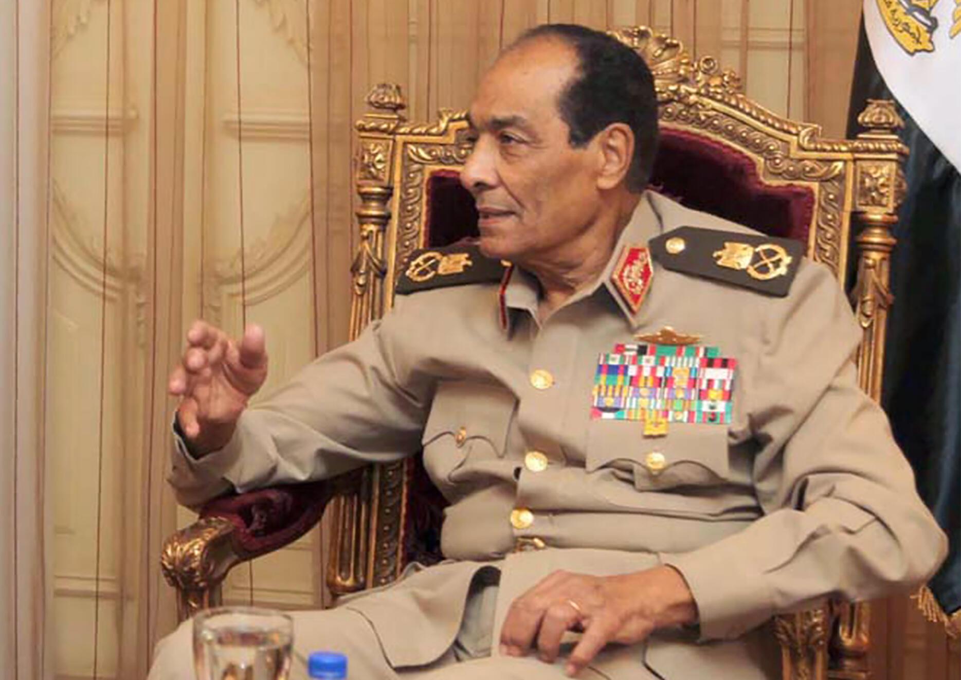 صورة نشرتها وكالة الانباء الأردنية تظهر المشير محمد حسين طنطاوي في القاهرة بتاريخ 24 أيار/مايو 2011