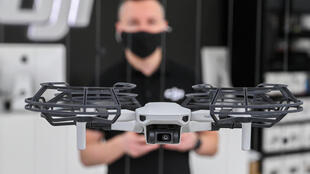 Budapest store manager Zoltan Helmeczi says drone technology should not be held back